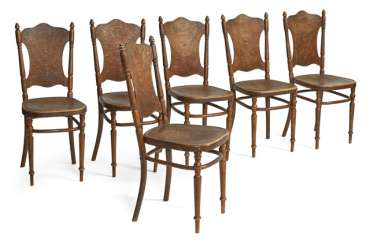 Set of six chairs from the turn of the century