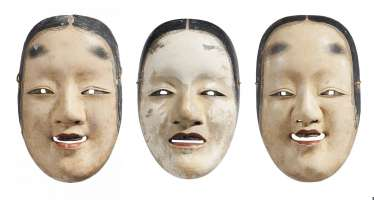 Three masks for the representation of young women