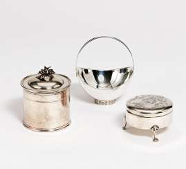Small handle bowl, jewelry box & box