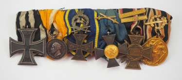 Prussia : Great medalbar of a life rescuer with 6 awards.