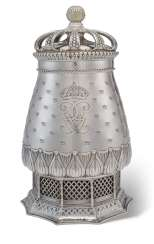 A SWEDISH SILVER VASE AND COVER