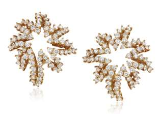 TIFFANY & CO. DIAMOND 'FIREWORKS' EARRINGS