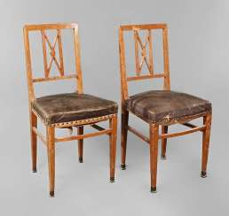 Pair Of Chairs In The Art Nouveau Style