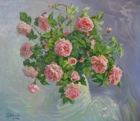 Roses Painting by Aleksandr Dubrovskyy