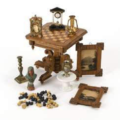 Chess table and accessories for the dollhouse