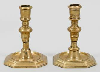 Pair of small Baroque candelabra