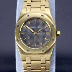 Audemars Piguet: Royal Oak Quartz Ladies Wristwatch. 18K Gold, date, Top, luxury, classic!