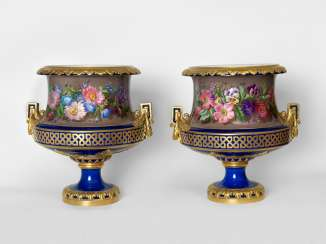 A Rare Pair of Imperial Porcelain Vases