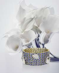 Bracelet with Tansaniten and brilliant