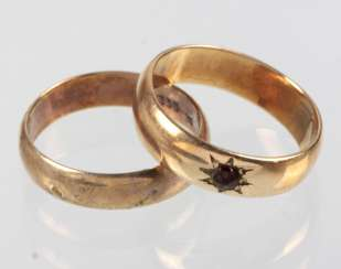 2 Wedding Rings - Yellow Gold 333 / 585