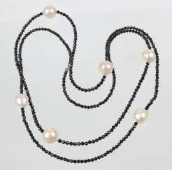 long Designer necklace with South sea pearls