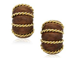 SEAMAN SCHEPPS WOOD EARRINGS