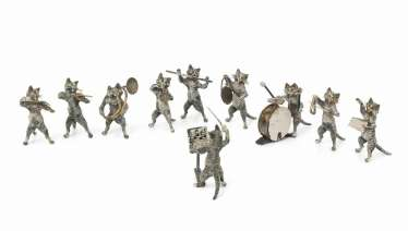 Group Of Figures: A Cat Orchestra