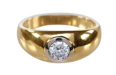 Brilliant Solitaire 750 Yellow Gold.