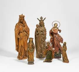 Five figures of saints