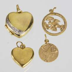 4 Pendant - Yellow Gold 333