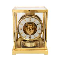 JAEGER LE COULTRE Atmos clock. Housing brass/gold plated.