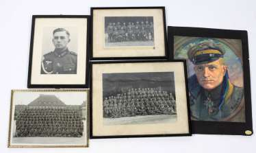4 military Photos in frames and other