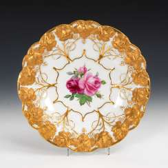 Ceremonial bowl with rose painting, MEISSEN.