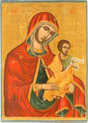 LARGE ICON OF THE MOTHER OF GOD WITH THE CHRIST CHILD