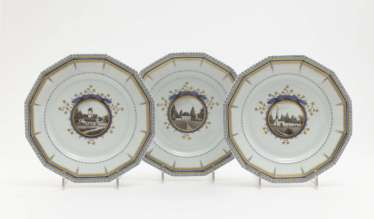 Six plates, Nymphenburg, after a model by Dominikus Auliczek