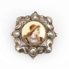 Brooch with miniature