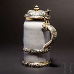 Stoneware jug with Vermeille-mount from the estate of Emperor Franz Joseph I., 1900