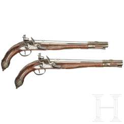 A Pair of flintlock pistols for the Oriental market, Vigniat in Marseille, around 1810