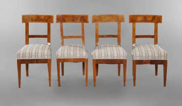Four early Biedermeier chairs