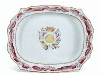 A SPANISH MARKET ARMORIAL TUREEN STAND