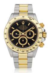 ROLEX, TWO-TONE DAYTONA, REF. 16523 WITH BLACK DIAL