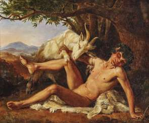 Faun with goat