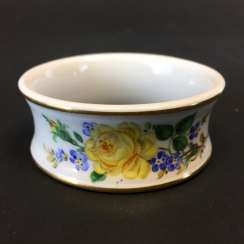 Napkin Ring: Meissen Porcelain. Yellow Rose with forget-me-not and Scattered flowers.