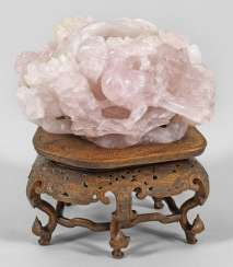 Large brush washer made of rose quartz