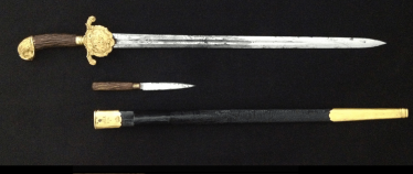 Hunting dagger with scabbard XIX century.