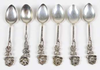 Set Of Mocha Spoons *Rose* Silver 800/835