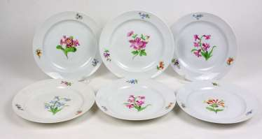 Meissen Set Of Dining Plates *Flower 1*