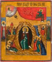 LARGE-FORMAT ICON WITH THE PROPHET ELIJAH
