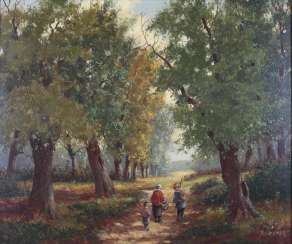 German painter of the 20th century, berry-pickers