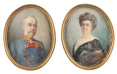 TWO MINIATURES: FRANZ KARL AND SOPHIE OF AUSTRIA (?)