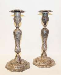 Candle holders pair of single candle