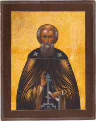 A SMALL ICON WITH THE HOLY SERGEY OF RADONESH Russia