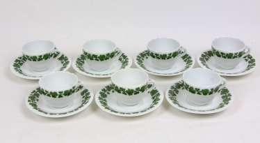 Meissen 7 Mocha Tableware *Vine Leaves*