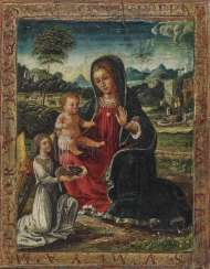 Mary with the child and an angel