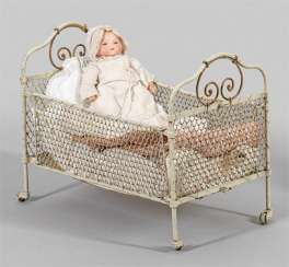 "Small ""My Dreambaby"" by Armand Marseille with cot"