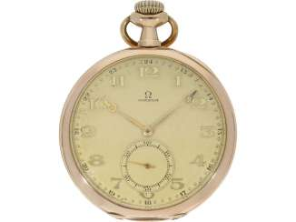 Pocket watch: decorative 14K Gold Lepine of the brand Omega, CA. 1915