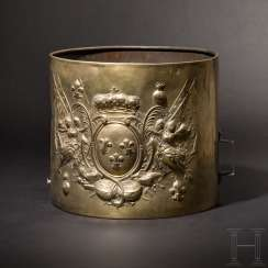 Drum of a Grenadier regiment during the reign of Louis XV (1715 - 1774), with German dedication from the year 1762