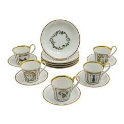 BING&GROENDAHL coffee Set for 5 persons 'Holiday Collection', 20. Century.