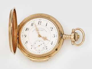 Golden men's pocket watch