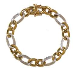 Link bracelet 750 yellow gold / WG.